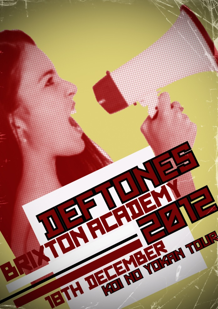 My Deftones gig poster using the Constructivism style